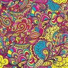 Psychedelic,Multi Colored,Doodle,Ilustration,Vector