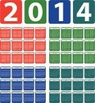 New Year's Day,New Year,2014,Design,template,Set,Personel Organizer,Calendar,Year,Multi Colored,Calendar Date,Vector,Week,Month,England,Day