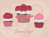 Snack,Text,Candy,template,Dessert,Greeting Card,Ilustration,Cupcake,Color Image,Vector