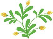 Branch,Leaf,Flower,Plant,Design Element,Silhouette,Image,Nature,Ilustration,Floral Pattern,Grass,Yellow,Pattern,Green Color,Vector