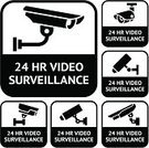 Security Camera,Home Video Camera,Camera - Photographic Equipment,Surveillance,Sign,Road Warning Sign,Vector,24 Hrs,Security System,Black Color,Ilustration,Warning Sign,Restricted Area Sign,Camera Surveillance,Symbol,Sound Recording Equipment,Security Guard,Crime,Watching,Road Sign,Emotion,Set,At Attention,Monitored Area,Technology,Security,Message,Warning Symbol,Computer Icon,Safety,Label