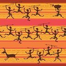 Animals Hunting,African Descent,African Culture,Hunting,Africa,Humor,People,Seamless,Pattern,Warrior,Ethnicity,Exoticism,Black Color,Backdrop,Community,Cultures,Ilustration,Men,Little Boys,Women,Vector,Indigenous Culture,Comic Book,Comedian,Cartoon,Wallpaper Pattern,Backgrounds,Aborigine,Tropical Climate,Textile,Orange Color,Ethnic,Decoration