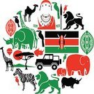 Kenya,Silhouette,Lion - Feline,Africa,Rhinoceros,Masai,Safari Animals,Animal,Vector,Travel,Cultures,Safari,Elephant,Shield,African Culture,Giraffe,Flag,Icon Set,Traditional Clothing,Zebra,Hot Air Balloon,Off-Road Vehicle,Computer Icon,Country - Geographic Area,Wildlife Reserve,Ilustration,Masai Mara National Reserve,Adventure,Travel Destinations,Indigenous Culture,African Descent,Masai Mara,Spear,Camel,Hornbill