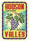 Wine,Alcohol,New York State,Hudson Valley,Grape,Label,Bunch,Postage Stamp,Luggage Tag