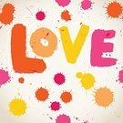 Spray,Color Image,Paint,Splattered,Text,Watercolor Painting,Multi Colored,Single Word,Love,Watercolor Paints,Vibrant Color,Vector,Ilustration,Splashing