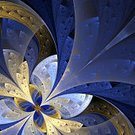 Fractal,Art Deco,Backgrounds,Creativity,Beauty,Computer Graphic,Petal,Development,Yellow,Light - Natural Phenomenon,Design Element,Flower,Nature,Ornate,Blue,Angle,Ilustration,Decoration,Plant,render,Style,Diagonal,Leaf,Pattern,Painted Image,Single Object,Floral Pattern,Ethereal,Black Color,Abstract