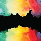 Color Image,Backgrounds,Bright,Watercolor Painting,Abstract,Vector,Ilustration,Vibrant Color