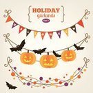 Halloween,Garland,Frame,Hanging,Autumn,Flag,Set,Paper Chain,Bat - Animal,Pumpkin,Cartoon,Greeting,Fear,Fun,Multi Colored,Outdoors,Carving - Craft Product,Joy,Collection,Style,Ribbon,Party - Social Event,Doodle,Symbol,Color Image,String,Greeting Card,Mystery,Holiday,Vector,Spooky,Magic,October,Ilustration,Banner,Horror,Design,Season,Cheerful,Cultures,Computer Graphic,Creativity,Celebration