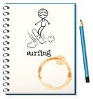 Pencil,Drawing - Activity,Computer Graphic,Photograph,Backgrounds,Writing,Sketch,Isolated,picure,Equipment,One Person,Cartoon,Blue,Book,Sheet,Clip Art,Notebook,People,Surfing,Paper,Material,Image,White
