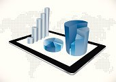 Graph,Chart,Digital Tablet,Finance,Business,Three-dimensional Shape,Data,Computer,Computer Monitor,Report,Mobile Phone,Digitally Generated Image,Marketing,Electrical Equipment,Global,Global Communications,Growth,Design,Document,Technology,Global Business