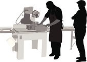 Carpenter,Silhouette,Circular Saw,People,Two People,Job - Religious Figure,Men,Equipment,Work Tool,Ilustration,Focus on Shadow,Vector,Computer Graphic,The Human Body,Occupation,Digitally Generated Image,Black Color,Working,Customer,Outline