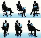 People,Armchair,Digital Tablet,Portable Information Device,Laptop,Silhouette,Businessman,Young Men,Businesswoman,Young Women,Well-dressed,Financial Analyst,Busy,Computer,On The Phone,Teamwork,Manager,Financial Occupation,Suit,Pensive,Finance,Thinking,Leadership,Business,Reading