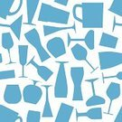 Pattern,Domestic Kitchen,Backgrounds,Crockery,Liquid,Blue,Decoration,Party - Social Event,Seamless,Computer Icon,Symbol,Ilustration,Pub,Wallpaper Pattern,Crystal,Vector,Wineglass,Celebration,Glass