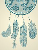 Boho,Native American,Retro Revival,Dreamcatcher,North American Tribal Culture,Design,Pattern,Fashion,Hippie,Mandala,Lifestyles,Sleeping,Greeting Card,Lace - Textile,Painted Image,Veil,Ethnic,Decor,Decoration,Magic,Cultures,Modern,Romance,Fantasy,Hanging,Symbol,Mystery,Hipster,Drawing - Art Product,Ornate,Dreamlike,Indigenous Culture,Abstract,Textured,Vector,Guipure,Feather