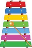 Music,Child,Xylophone,Toy,Wood - Material,Multi Colored,Education,Creativity,Toned Image,Leisure Games,Musician,Skill,Childhood,Sound,Percussion Instrument,Musical Instrument,Isolated,Bang,Vector,Learning,Play,No People,Backgrounds