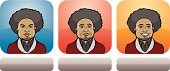 Vector,Portrait,Young Men,Blank Expression,African Descent,Depression - Sadness,Sadness,One Person,Men,Ilustration,Positive Emotion,Interface Icons,Negative Emotion,Hairstyle,Human Eye,Mug Shot,Facial Expression,Human Face,Yellow,Blue,Smiling,Frowning,Adult,African Ethnicity,Emotional Stress,Red,Humor,Disappointment,Label,Cartoon,People,Serious,Set,Cheerful,Human Head,Afro,Collection,Emotion,Head And Shoulders