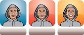 Hood,Stereotypical,Adult,Label,Cartoon,Smiling,Emotional Stress,Disappointment,Collection,African Ethnicity,Positive Emotion,Set,Blue,Yellow,Serious,People,Humor,Human Face,Negative Emotion,Facial Expression,Head And Shoulders,Vector,Portrait,Young Men,Blank Expression,African Descent,Depression - Sadness,Sadness,One Person,Men,Ilustration,Cheerful,Interface Icons,Displeased,Human Head,Emotion,Mug Shot,Human Eye,Red