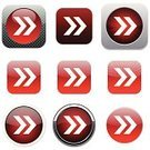 Clip Art,Icon Set,Interface Icons,Arrow Symbol,Ilustration,Color Image,Vector