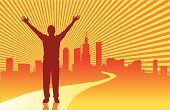 Success,Praying,Road,Occupation,Business,City,Men,People,Street,Sun,Urban Scene,Support,Survival,Ecstatic,Urban Skyline,Gratitude,Conquering Adversity,Stretching,Businessman,Building Exterior,Business Person,Built Structure,Concepts,Human Arm,Muscular Build,Challenge,Ideas,Inspiration,Outdoors,Adult,Solution,Striped,Sky,Agreement,Yellow,Colors,Color Image,Reflection,Travel Locations,Concepts And Ideas,Success,People,handcarves