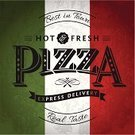 Pizza,Italy,Retro Revival,Old-fashioned,Food,Text,Restaurant,Banner,Placard,Poster,Ribbon,Backgrounds,Typescript,Grunge,Pizzeria,Old,Message,Vector,Backdrop