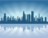 Chicago,Urban Skyline,Ilustration,Vector,Blue,Silhouette,Waterfront,Cityscape,Skyscraper,Illinois,Built Structure,Dark,Sky,Backgrounds,Front View,Architecture,Day,Journey,City,USA,Travel,Beautiful,Downtown District,Reflection,Famous Place,Business,Tall,Modern,Office Building,Coastline
