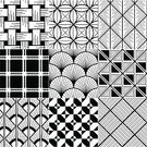Pattern,Seamless,Black And White,Scallop,Geometric Shape,Backgrounds,Woven,Diamond Shaped,Grid,Computer Graphic,Textile,Textile Industry,Silhouette,Design,Shape,Back Lit,Wallpaper Pattern,Textured Effect,Wallpaper,Print,Striped,Style,Diagonal,Intricacy,Square Shape,Photographic Effects,Triangle,Symmetry,Circle,Rhombus,White,Art,Macro,In A Row,Monochrome,Tile,Simplicity,Elegance,Fashion,Vector,Square,Design Element,Decor,Abstract,Repetition,Close-up,Decoration,Black Color,Mosaic