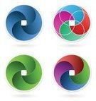 Aperture,Futuristic,Symbol,Computer Icon,Design Element,Design,Internet,Scroll Shape,Business,Style,vector icons,Insignia,Vector,Business Symbols,Swirl,Abstract,Three-dimensional Shape,Pattern