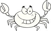 Black And White,Sea Life,Crab,Ilustration,Mascot,Smiling,Painted Image,Cartoon,Toothy Smile,Clip Art,Drawing - Art Product,Characters,Computer Graphic,Vector,Humor,Design,Isolated On White,Illustrations And Vector Art,Vector Cartoons,Animal,Cheerful,Happiness,Image Type,Digitally Generated Image,Image,Joy