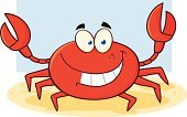 Crab,Joy,Happiness,Computer Graphic,Smiling,Paintings,Humor,Multi Colored,Clip Art,Vector Cartoons,Drawing - Art Product,Image,Image Type,Color Image,Ilustration,Animal,Cheerful,Design,Isolated On White,Illustrations And Vector Art,Digitally Generated Image,Characters,Painted Image,Mascot,Vector,Sea Life,Toothy Smile,Cartoon