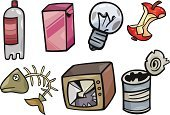 Bottle,Broken,Garbage,Ilustration,Collection,Apple Core,Obsolete,Cartoon,Symbol,Can,Clip Art,Television Set,Design,Prepared Fish,Vector,Light Bulb,Garbage Dump,Drawing - Art Product,Box - Container,Set,Fish,Old,Computer Graphic,Plastic,Metal,Damaged,Animal Skeleton
