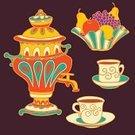 Tea Party,Russian Culture,Pattern,Tea - Hot Drink,Apple - Fruit,Bowl,Vase,Set,Saucer,Drawing - Art Product,Decoration,Color Image,Drink,Outline,Illustrations And Vector Art,Multi Colored,Old-fashioned,Cultures,Grape,Retro Revival,Beauty,Art,Fruit,Computer Graphic,Vector Backgrounds,Samovar,Food,Cup,Collection,Mug,Design,Pear,Silhouette,Symbol,hand drawing,Ilustration,Vector,Tea Cup,Colors,Coffee Cup,Group of Objects,Isolated,Painted Image,Arts Backgrounds,Russia