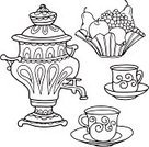 Russian Culture,Tea Cup,White,Grape,Ilustration,Design,Painted Image,Collection,Tea - Hot Drink,Fruit,Apple - Fruit,Mug,Decoration,Ink,Cup,Illustrations And Vector Art,Retro Revival,Tea Party,Black Color,Samovar,Vector Backgrounds,Russia,Vector,Set,Coffee Cup,Backgrounds,Drawing - Art Product,Outline,Food,Vase,Symbol,Silhouette,Old-fashioned,Cultures,Pear,Drink,Color Image,Computer Graphic,Arts Backgrounds,Beauty,Colors,Isolated,Drawing - Activity,Saucer,Art,Bowl,Pattern