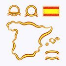 Spain,Outline,Country - Geographic Area,Map,Posing,Vector,Retro Revival,International Border,Cartography,Ilustration,Land,state,Isolated,Design Element,Drawing - Art Product,National Landmark,Postage Stamp,In A Row,Backgrounds,Flag,At The Edge Of,Symbol,Design,Ribbon,nation,Old-fashioned,Colors,Shape,Computer Graphic,Multi Colored,Yellow,Red,Frame