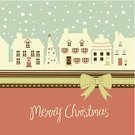 Christmas,Street,Winter,Ilustration,Vector