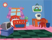 Playhouse,House,Home Interior,kids room,Domestic Room,Study,Computer,Inside Of,Indoors