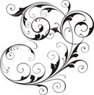 Backgrounds,Floral Pattern,Swirl,Vector,Design,Scroll Shape,Design Element,Computer Graphic,Retro Revival,Art,Old-fashioned,Victorian Style,Spiral,Black Color,Curled Up,No People,Fleuron,Arts Symbols,Communication,Arts And Entertainment,Illustrations And Vector Art,Concepts And Ideas