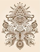 Paisley,Henna Tattoo,Embellishment,Pattern,Indian Culture,Swirl,Abstract,Ornate,Drawing - Art Product,Mhendi,Outline,Painted Image,Ilustration,Old-fashioned,Decoration,Design Element,Flower,Tattoo,Lace - Textile,Intricacy,Doodle