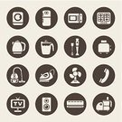 Computer Icon,Symbol,Freezer,Appliance,Domestic Life,Domestic Kitchen,Silhouette,Juicer,Technology,Air Conditioner,Kitchen Utensil,Electric Fan,Toaster,Icon Set,Refrigerator,Collection,Stove,Telephone,Equipment,Television Set,Vacuum Cleaner,Oven,Electric Mixer,Set,Washer Machine,Technics,Group of Objects,Vector,Washing Machine,Food Processor,Iron - Appliance,Kettle,vector icons