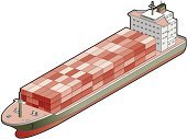 Container Ship,Industrial Ship,Cargo Container,Nautical Vessel,Freight Transportation,Isometric,Vector,Transportation,Symbol,Three-dimensional Shape,Computer Icon,Ilustration,Hull,Sign,Ship's Bow,Design,Boat Deck,Stern,Illustrations And Vector Art,conning tower,Business