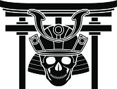 East Asian Culture,Samurai,Ilustration,Korean Culture,Abstract,Single Object,Vector,Work Helmet,Isolated,Human Skull,Japanese Culture,Black Color,Stencil,Art,Ancient,Spirituality,War,Gate,martial,Danger,Fantasy,Torii Gate,Horror,Religion,Medieval,The Past,Isolated On White