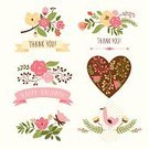 Flower,Single Flower,Floral Pattern,Retro Revival,Old-fashioned,Thank You,Frame,Insignia,Valentine's Day - Holiday,Heart Shape,Bouquet,Valentine Card,Branch,Bird,Rose - Flower,Pattern,Vector,Label,Text,Romance,Design,Wedding Card,Birthday Card,Elegance,Ribbon,Decoration,Symbol,Love,Holiday,Decor