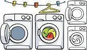 Dry,Machinery,Washing Machine,Washing,Clothing,Laundry,Housework,Clothesline,Outline,Coathanger,Closed,Front View,Clothespin,Drying,Hanging,Single Object,Equipment,Kitchen Utensil,Appliance,Open,Vector,Clamp,Ilustration,No People,Domestic Life
