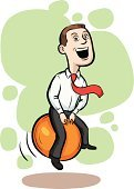 Cheerful,Office Interior,Occupation,Retro Revival,Joy,Ball,Bouncer,Bouncing,Caricature,Adult,Cartoon,Ilustration,Male,Job - Religious Figure,Jumping,Kangaroo Ball,Hoppity Hop,Tie,Hoppity Horse,Men,Professional Occupation,People,Business,Hop Ball,Characters,Shirt,White Collar Worker,Vector,Businessman,Sales Clerk,Smiling,Caucasian Ethnicity,Clip Art,Young Men,Skippyball,Manager,Humor,Full Length,rubber ball