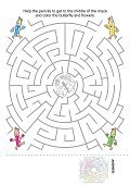 Coloring,Leisure Games,Child,Maze,Coloring Book,Page,Puzzle,Activity,Ilustration,Discovery,Drawing - Art Product,Pencil Drawing,Butterfly - Insect,Sheet,Circle,Single Flower,Footpath,Flower,Black And White,Education,Assistance,Help,printable,Black Color,Vector,Book,Searching,Fun,worksheet,Pencil,White,Mystery