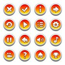 Symbol,Sign,Interface Icons,Icon Set,Set,Shiny,Red,Connection,Cartoon,Elegance,Circle,Yellow,Vector