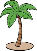 Palm Tree,Tropical Climate,Leaf,Tropical Tree,Illustrations And Vector Art,Tree,Green Color,Date Palm Tree,Beach Tree,Vector,Palm Leaf,Ilustration,Cartoon