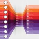 Infographic,Red,Purple,Backgrounds,Color Image,Vector,Ilustration