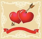 Heart Shape,Arrow,Two Objects,Banner,Valentine's Day - Holiday,Frame,Vector,Ornate,ornamented,Red,Swirl,Flower,Leaf,curlicue,Decoration,Clip Art,Objects/Equipment,Valentine's Day,Plant,Holidays And Celebrations,Pair,Ilustration,Posing,Abstract,Love,Modern,Flower Head