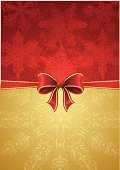 Christmas,Greeting Card,Bow,Red,Snowflake