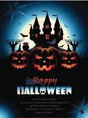 Halloween,Backgrounds,Vector,Backdrop,Greeting Card,Pumpkin,Blue,Horror,Spooky,Book Cover,Owl,Evil,Moon,Season,Ilustration,Abstract,Spider Web,Silhouette,Celebration,Autumn,Mystery,Ghost,Castle,Poster,Modern,Billboard Posting,Grass,Creativity,Computer Graphic,Spider,jack-o-lantern,Orange Color,Flying,Design,Tree,Funky,Holiday,Cultures,Clip Art,Black Color,Night,October